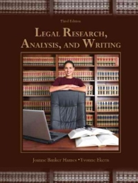 Legal Research, Analysis, and Writing 3rd edition 9780131594807 013159480X