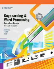 Keyboarding and Word Processing, Complete Course, Lessons 1-120: Microsoft Word 2010: College Keyboarding, 18th Edition 18th Edition 9780538496476 0538496479