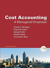 Cost Accounting 13th edition 9780135054970 0135054974