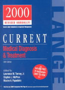 Current Medical Diagnosis and Treatment 2000 39th edition 9780838515914 0838515916