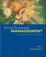 Small Business Management: An Entrepreneur's Guidebook 6th Edition 9780073405070 0073405078
