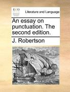 An Essay on Punctuation The 0 9781170417348 1170417345