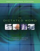 The Dictated Word 1st edition 9781111317263 1111317267