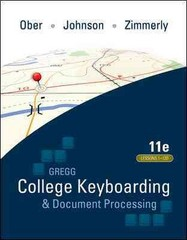 Ober:  Kit 3: (Lessons 1-120) w/ Word 2010 Manual 11th Edition 9780077356620 0077356624