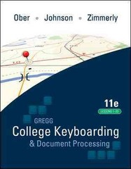 Gregg College Keyboarding & Document Processing 11th Edition 9780077377144 0077377141