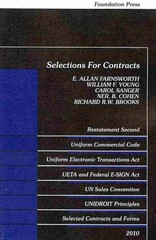 Selections for Contracts 1st Edition 9781599417073 1599417073