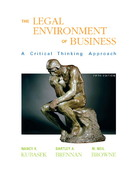 Legal Environment of Business 5th edition 9780136059172 0136059171