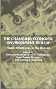 Changing Economic Environment in Asia 1st Edition 9780230287266 0230287263