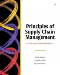 Principles of Supply Chain Management (with InfoTrac and CD-ROM) 2nd edition 9780324657913 0324657919