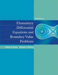 Elementary Differential Equations and Boundary Value Problems 10th Edition 9780470458310 0470458313