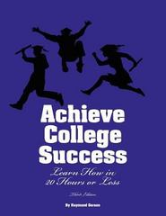 Achieve College Success 3rd Edition 9780984136421 0984136428