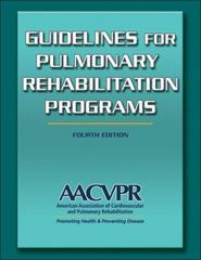 Guidelines for Pulmonary Rehabilitation Programs 4th Edition 9780736096539 0736096531