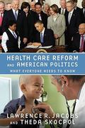 Health Care Reform and American Politics 0 9780199769124 0199769125