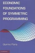 Economic Foundations of Symmetric Programming 0 9780521123020 052112302X