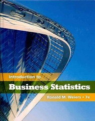Introduction to Business Statistics (Book Only) 7th Edition 9780538452175 053845217X