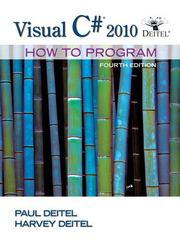 Visual C# 2010 How to Program 4th edition 9780132151429 0132151421