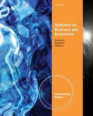 Statistics for Business and Economics 11th edition 9780538471886 0538471883