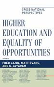 Higher Education and Equality of Opportunity 0 9780739146699 0739146696