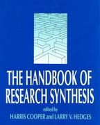 The Handbook of Research Synthesis 0 9780871542267 0871542269