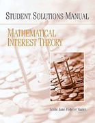 Student Solutions Manual for Mathematical Interest Theory 1st edition 9780132389228 0132389223