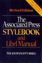 The Associated Press Stylebook and Libel Manual 1st Edition 9780201104332 0201104334