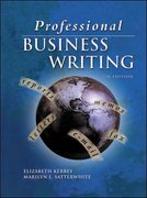 Professional Business Writing 7th Edition 9780078211652 0078211654