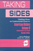 Clashing Views on Controversial Issues in American History 7th edition 9780697375339 0697375331