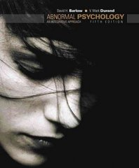 Abnormal Psychology 5th edition 9780495595847 0495595845