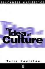 The Idea of Culture 1st Edition 9780631219668 0631219668