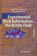 Experimental Rock Deformation - the Brittle Field 2nd edition 9783540240235 3540240233