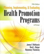 Planning, Implementing, and Evaluating Health Promotion Programs 5th edition 9780321542168 0321542169