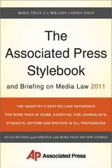The Associated Press Stylebook and Briefing on Media Law 2011 45th Edition 9780465021871 0465021875