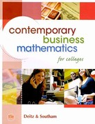 Contemporary Business Mathematics for Colleges (Book Only) 15th edition 9780324663150 0324663153