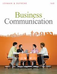 Business Communication (Book Only) 16th Edition 9780324782189 0324782187