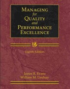 Managing for Quality and Performance Excellence 8th edition 9781111784829 1111784825