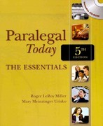 Paralegal Today: The Essentials (Book Only) 5th edition 9781111319106 1111319103