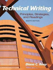 Technical Writing 8th Edition 9780205721504 0205721508