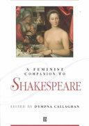 A Feminist Companion to Shakespeare 1st Edition 9780631208075 0631208070