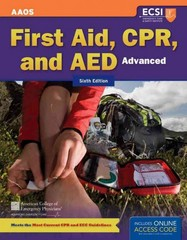 Advanced First Aid, CPR, and AED 6th Edition 9781449609474 1449609473