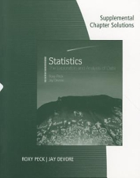 Supplemental Chapter Solutions for Peck/Olsen/Devore's Introduction to Statistics and Data Analysis 3rd edition 9780495554943 0495554944