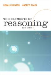 The Elements of Reasoning 6th edition 9780495809180 0495809187