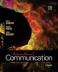 Intercultural Communication 13th Edition 9780495898313 0495898317