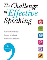 The Challenge of Effective Speaking 15th edition 9780495911340 0495911348