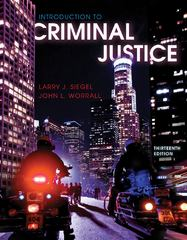 Introduction to Criminal Justice 13th edition 9780495913382 0495913383