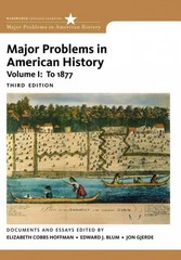 Major Problems in American History, Volume I 3rd edition 9780495915133 0495915130