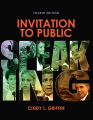 Invitation to Public Speaking 4th Edition 9781133171638 113317163X