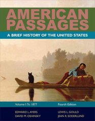 American Passages 4th edition 9780495915201 0495915203