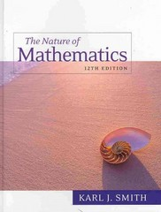 Nature of Mathematics 12th edition 9780538737586 0538737581