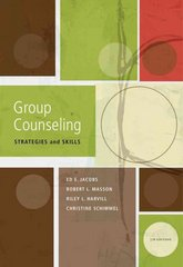 Group Counseling 7th edition 9780840033932 0840033931
