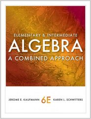 Elementary and Intermediate Algebra 6th edition 9780840053145 0840053142